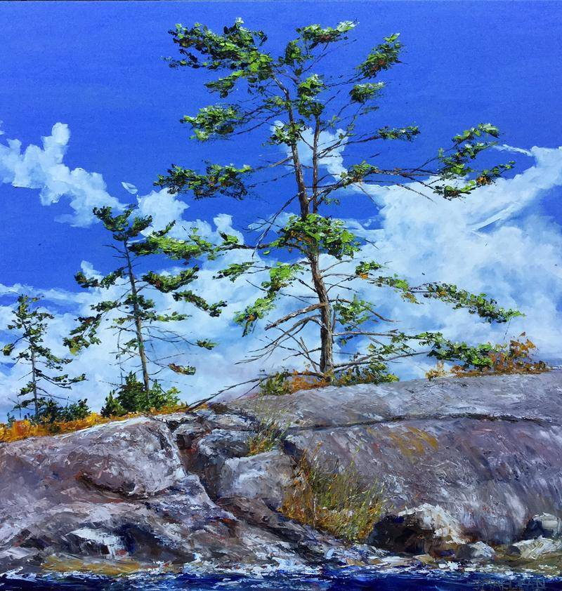 Jamie MacLean - Georgian Bay Elements - 36x36 - Oil on Canvas