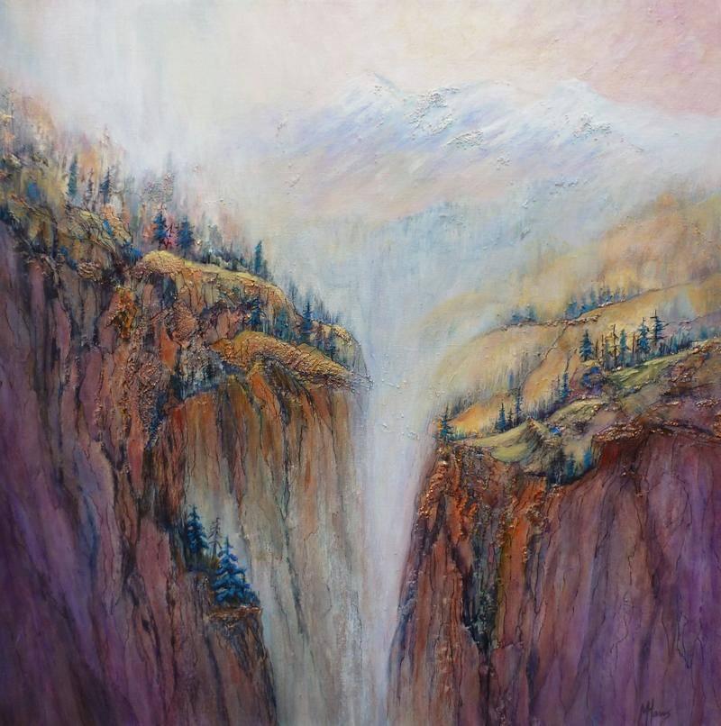 Marilyn Harris - Mountain Mist - 24x24 - Acrylic on Canvas