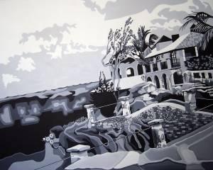 Shirley Radebach - Casa de Campo - 5x4 ft. - Acrylic