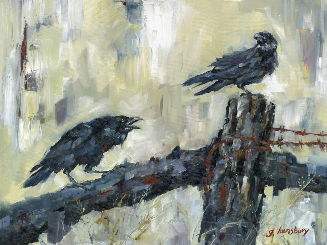 Grant Lounsbury - Poe's Ravens - 18x24 - Oil