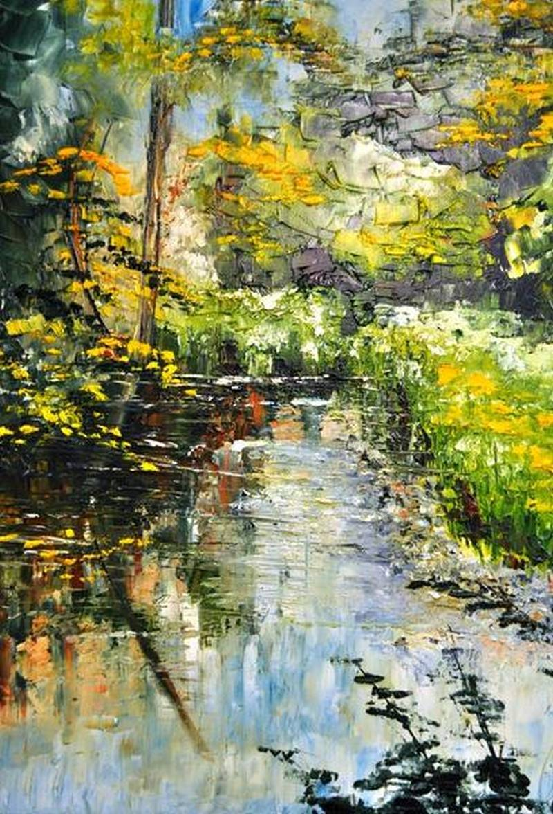 Sjon de Groot - Rattray Pond - 30x24 - Oil