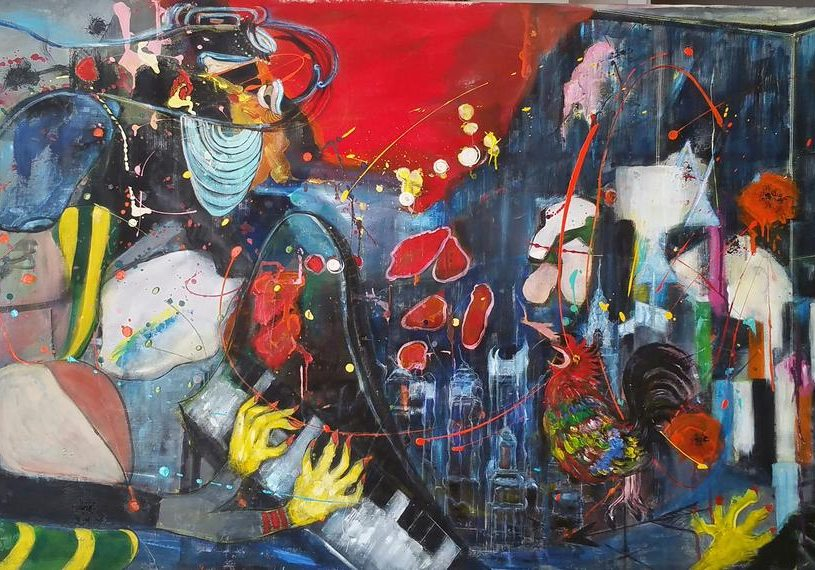 Aesook Bae - Seymour Berstine (An Introduction1) New York Sonnet - 24x36 - Acrylic on Canvas