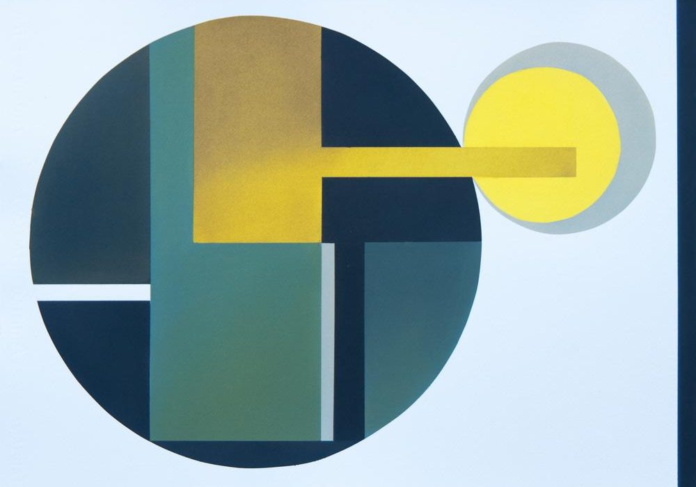 Vera Bobson - Yellow Circle - 22x30 - Watercolour on Paper