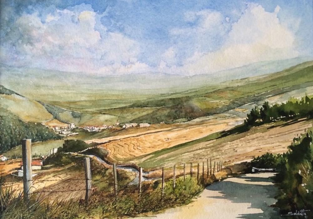 Anthony Saldutto - Road Home - 12x16 - Watercolour on Paper
